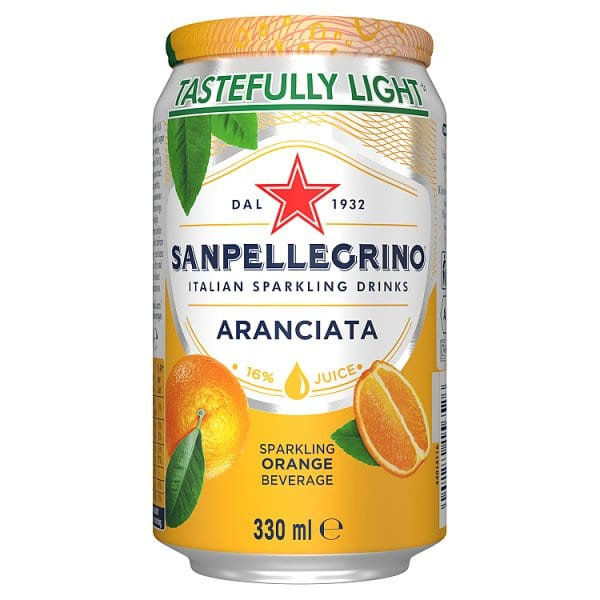 San Pellegrino Orange Can